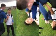 الطالب البريطاني المعتدي على لاجئ سوري يغادر المملكة المتحدة