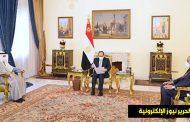 وزير الخارجية يقوم بتسليم رسالة خطية من حضرة صاحب السمو أمير البلاد الى أخيه فخامة رئيس جمهورية مصر العربية الشقيقة